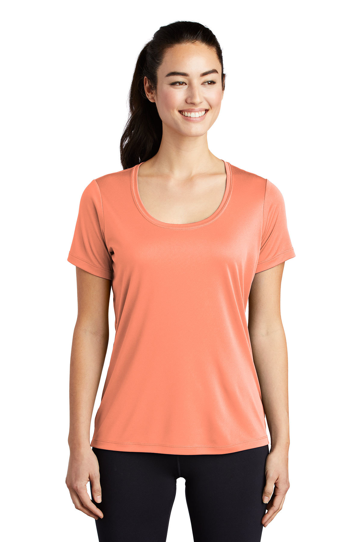 Sport-Tek LST420 - Ladies Posi-UV Pro Scoop Neck Tee
