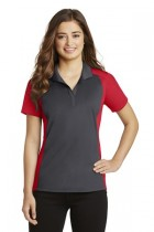 Sport-Tek® LST652 - Ladies Colorblock Micropique ...
