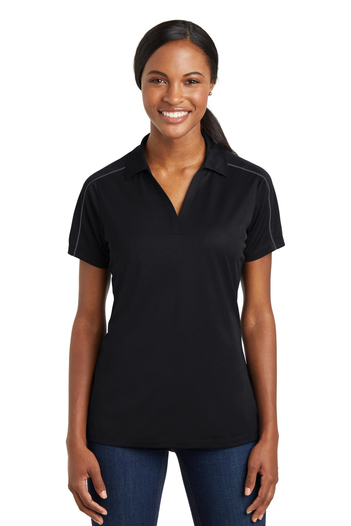 Sport-Tek® LST653 - Ladies Micropique Sport-Wick Piped Polo