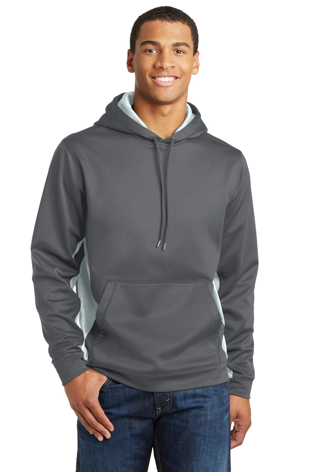 Sport-Tek  Sport-Wick  ST239 - CamoHex Fleece Colorblock Hooded Pullover