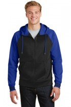 Sport-Tek® ST236 - Sport-Wick® Varsity Fleece Full-Zip Hooded Jacket