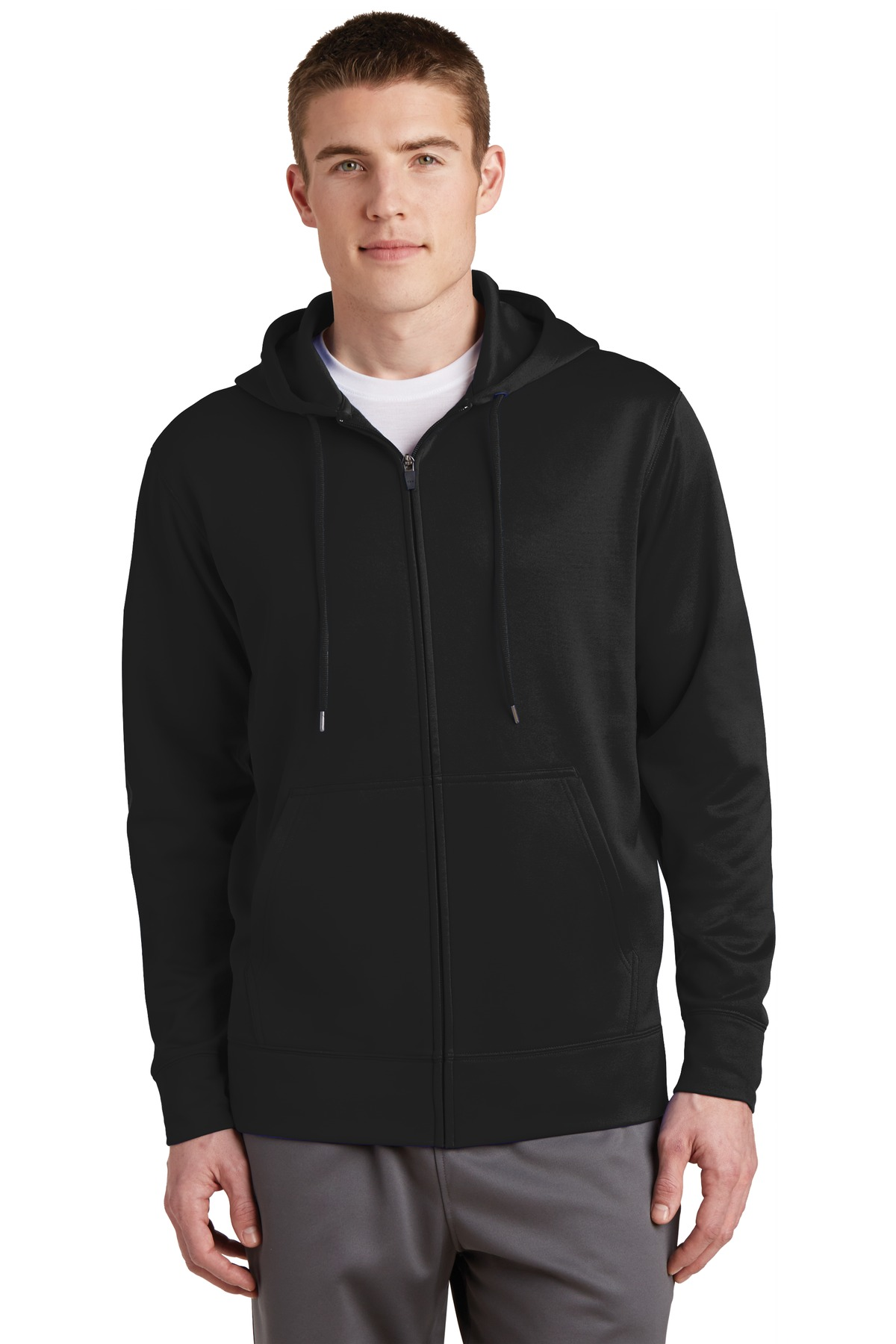 Sport-Tek  ST238 - Sport-Wick; Fleece Full-Zip Hooded Jacket