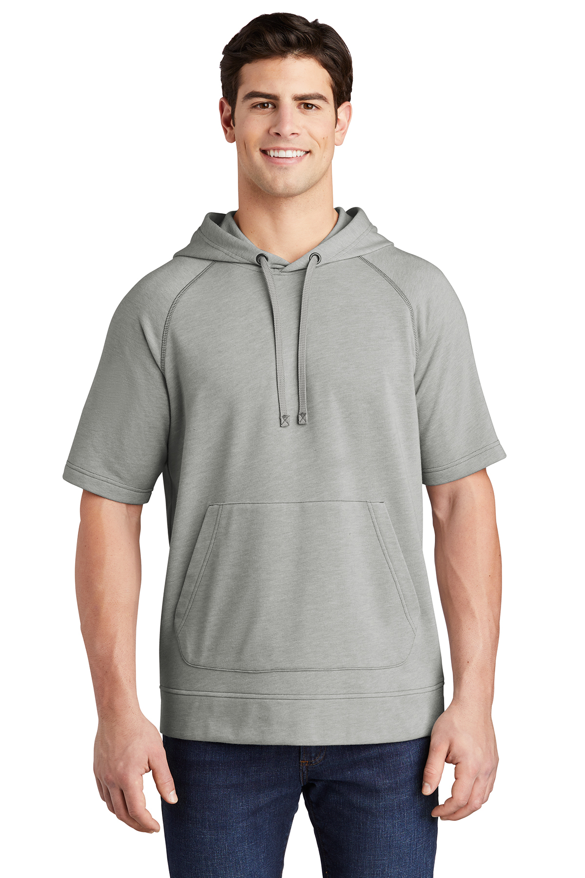 Sport-Tek ST297 - PosiCharge Tri-Blend Wicking Fleece Short Sleeve Hooded Pullover