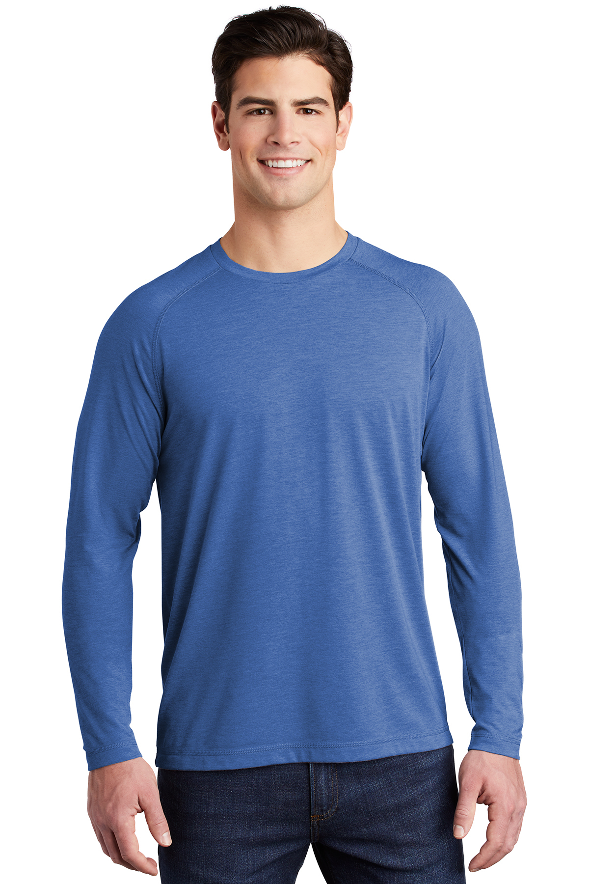 Sport-Tek ST400LS - PosiCharge Long Sleeve Tri-Blend Wicking Raglan Tee