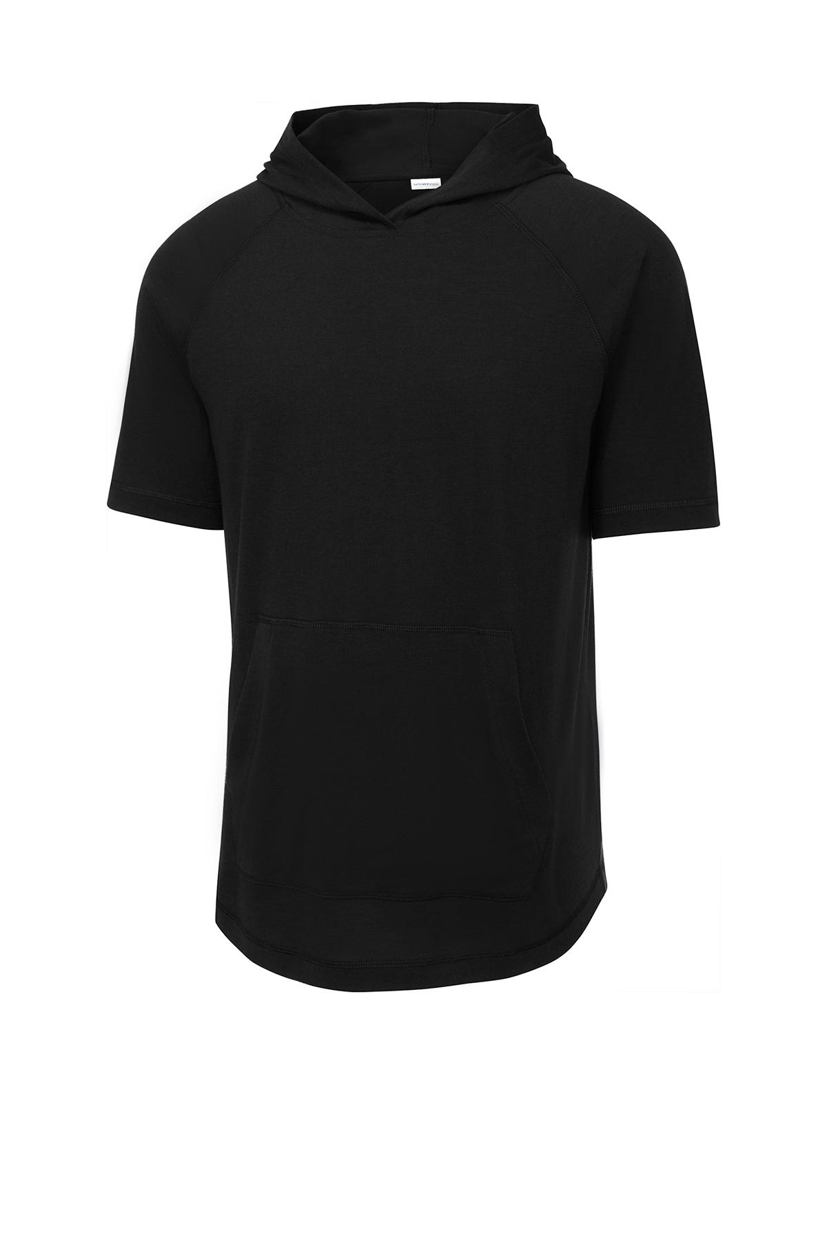 Sport-Tek ® ST404 - PosiCharge ® Tri-Blend Wicking Short Sleeve Hoodie