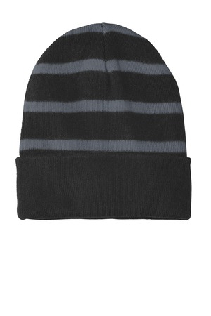 c4e65e445d2 Sport-Tek® STC31 - Striped Beanie with Solid Band