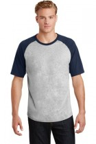 Sport-Tek® T201 - Short Sleeve Colorblock Raglan ...