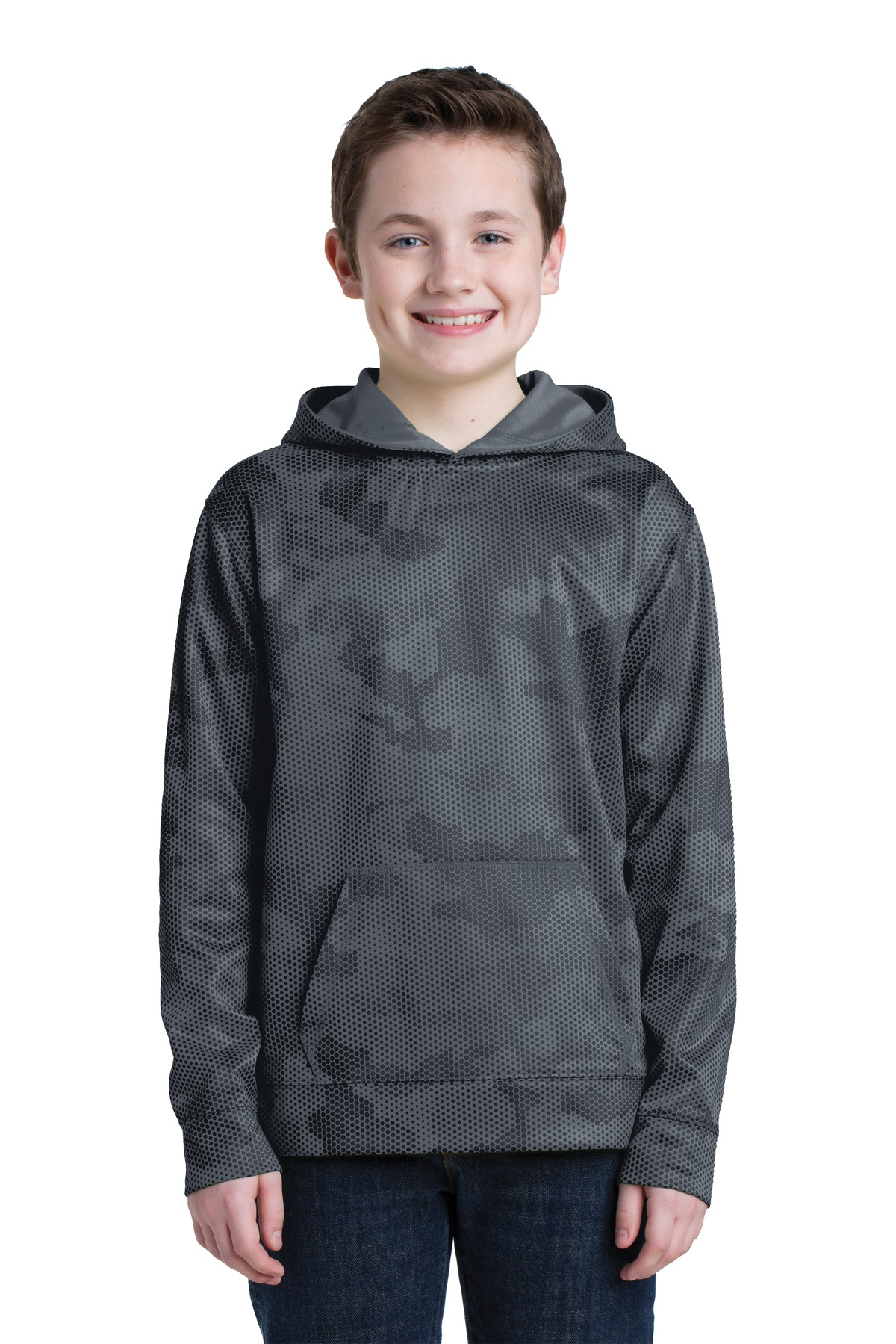 Sport-Tek  Youth Sport-Wick  YST240 - CamoHex Fleece ...
