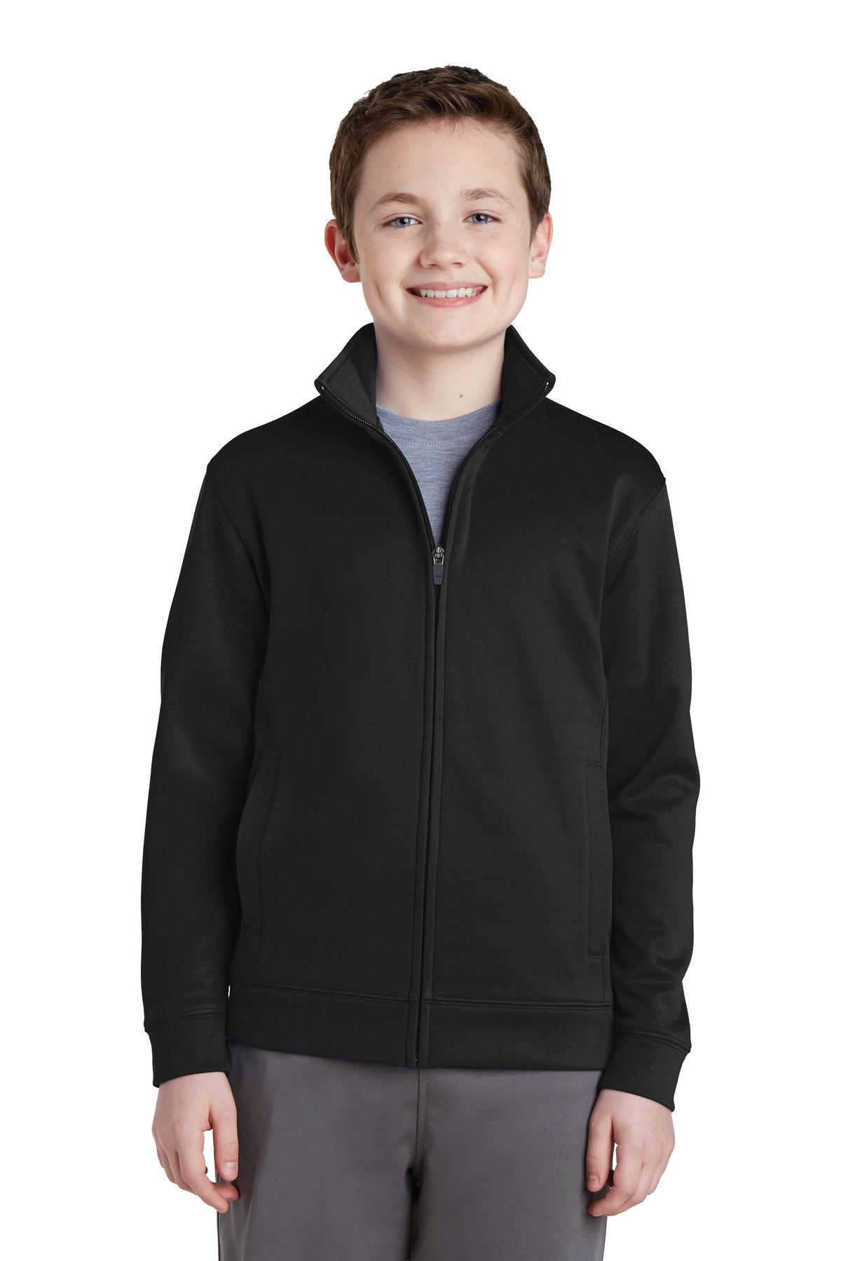 Sport-Tek  Youth Sport-Wick  YST241 - Fleece Full-Zip ...