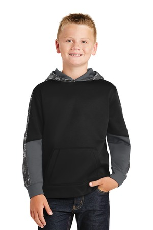 Sport-Tek YST231 - Youth Sport-Wick Mineral Freeze Fleece Colorblock Hooded Pullover