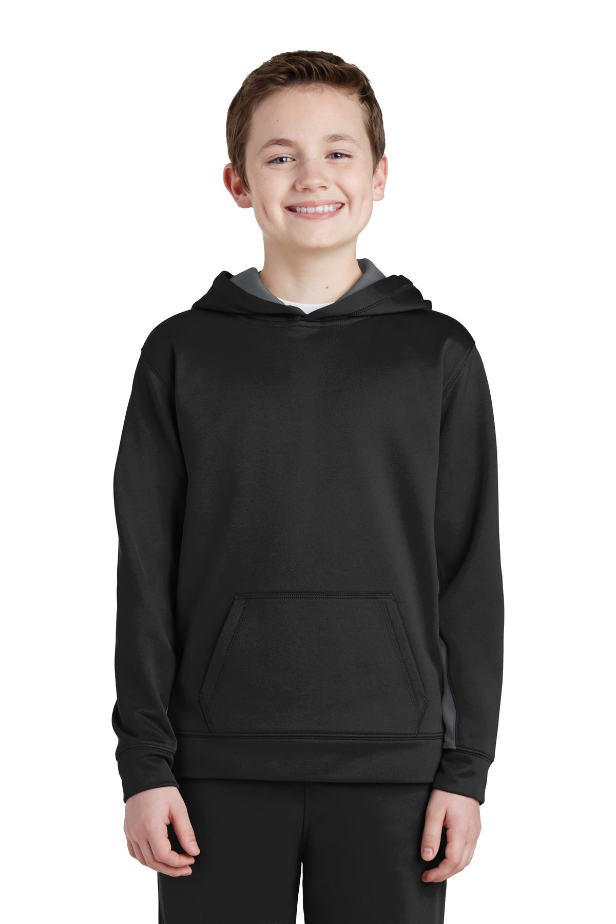 Sport-Tek  YST235 - Youth Sport-Wick; Fleece Colorblock ...