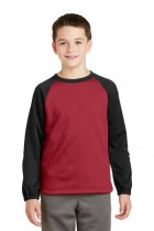 Sport-Tek® YST242 - Youth Sport-Wick® Raglan Colorblock Fleece Crewneck