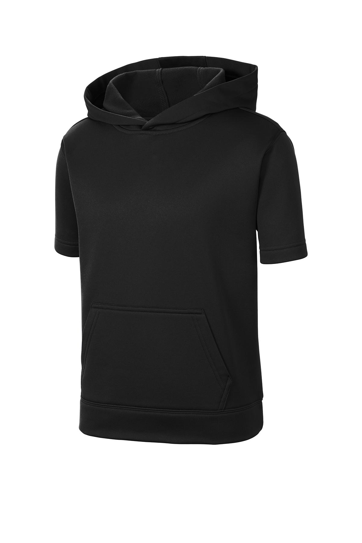 Sport-Tek ® YST251 - Youth Sport-Wick ® Fleece Short Sleeve Hooded Pullover