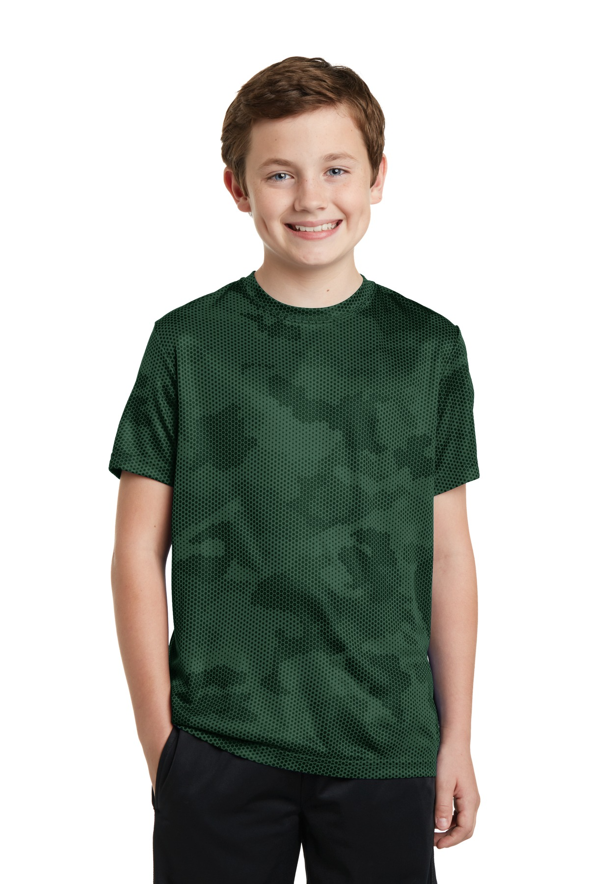 Sport-Tek  YST370 - Youth CamoHex Tee