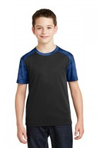 Sport-Tek® YST371 - Youth CamoHex Colorblock Tee