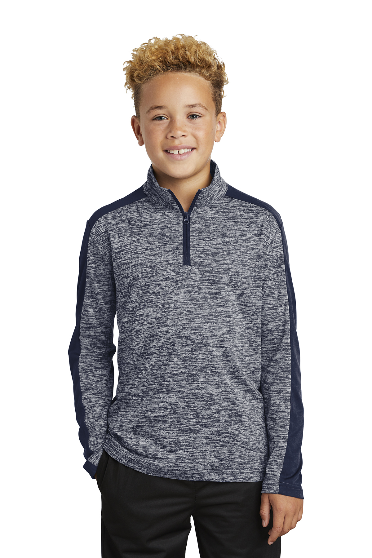 Sport-Tek YST397 - Youth PosiCharge Electric Heather ...