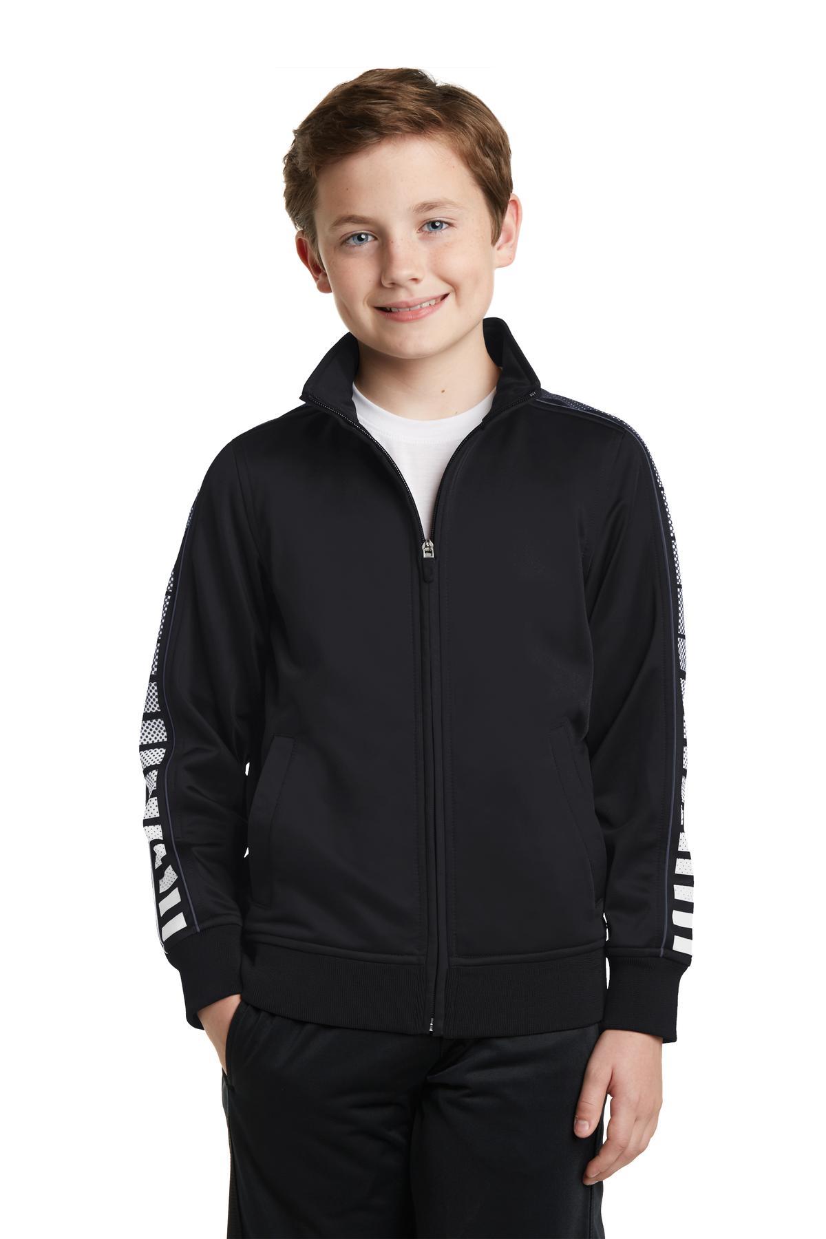 Sport-Tek® YST93 - Youth Dot Sublimation Tricot Track Jacket