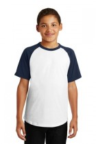 Sport-Tek® YT201 - Youth Short Sleeve Colorblock Raglan Jersey