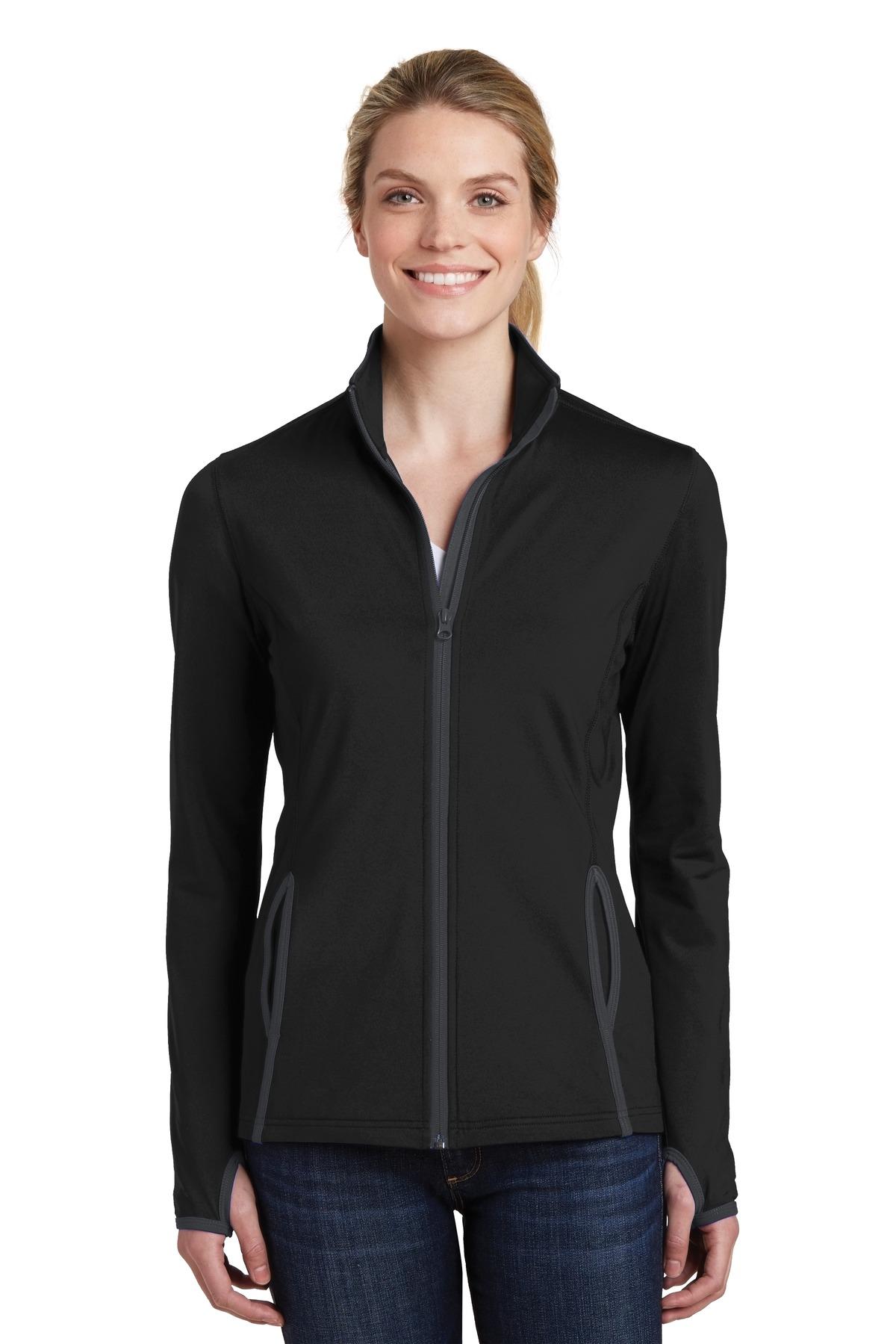 Sport-Tek  Ladies Sport-Wick  LST853 - Stretch Contrast Full-Zip Jacket