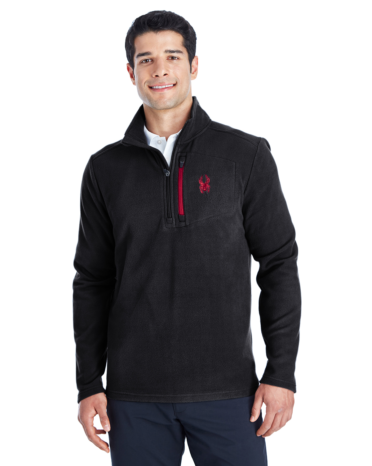 Spyder 187332 - Men's Transport Quarter-Zip Fleece Pullover