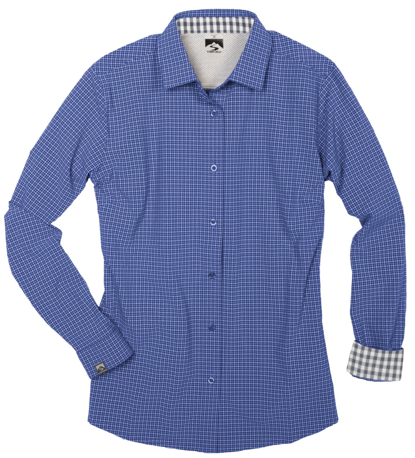 Storm Creek 2565 - Women's Tonal Check 4-Way Stretch Eco-Woven Shirt
