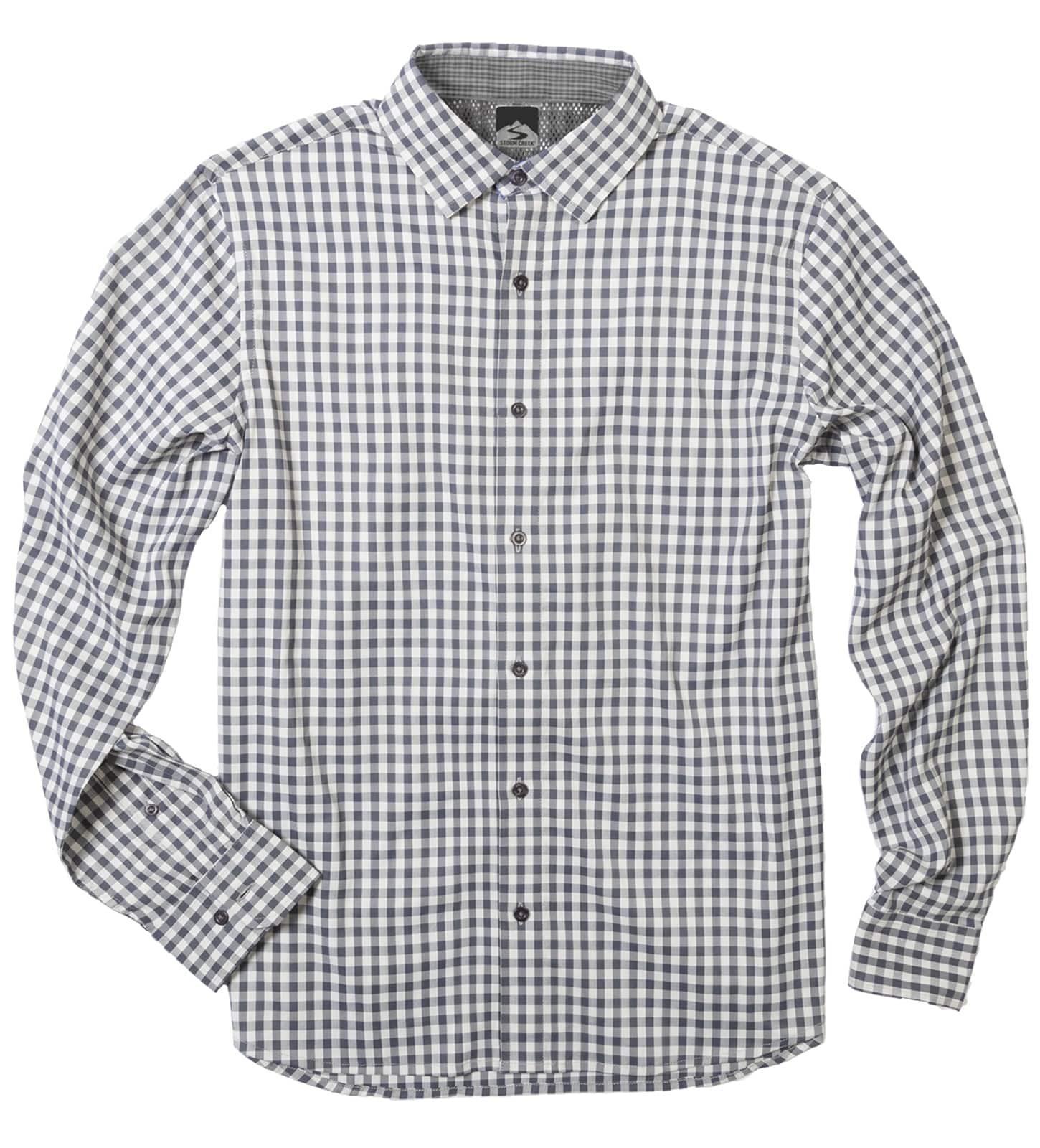 Storm Creek 2570 - Men's Gingham 4-Way Stretch Eco-Woven Shirt