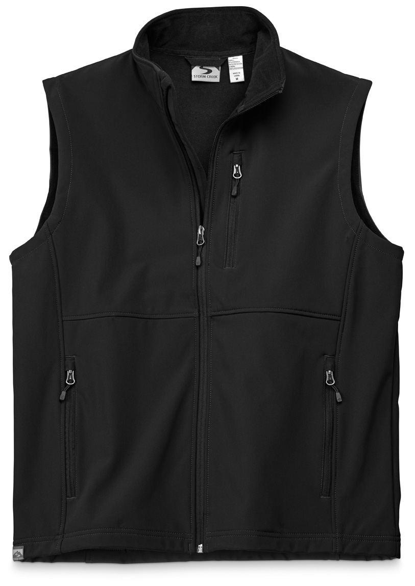 Storm Creek 4050 - Men's Mircofleece Lined Softshell Vest 'Dimitri'
