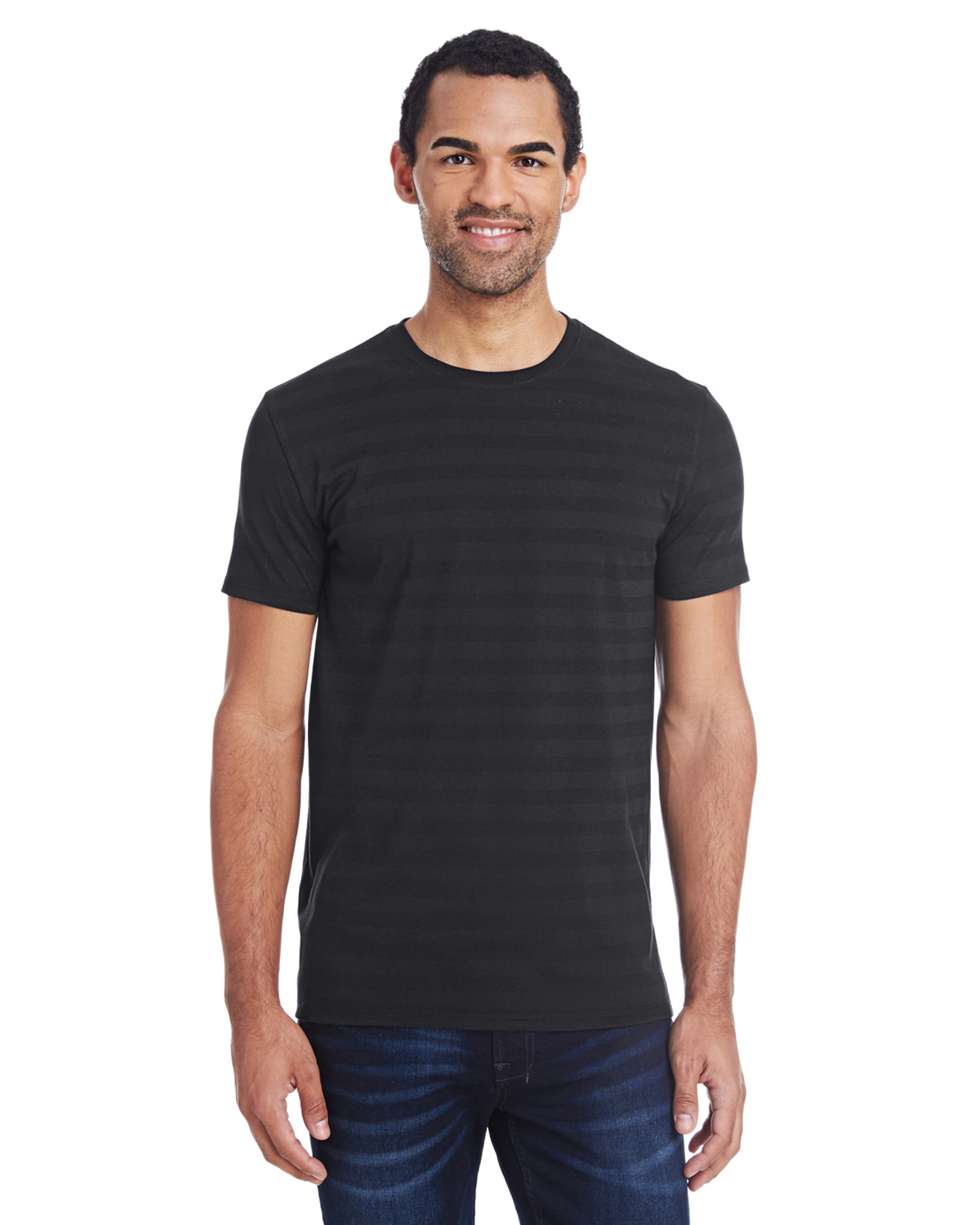 Threadfast Apparel 152A - Men's Invisible Stripe Short-Sleeve T-Shirt