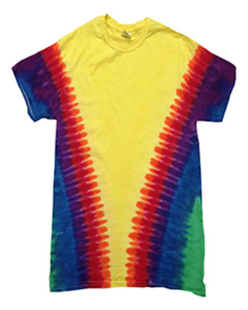 Tie-Dyed CD1140Y - Youth Rainbow Pattern Tie-Dyed Tee