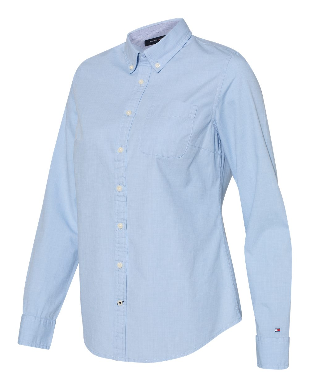 Tommy Hilfiger 13H4377 - Women's Capote End-on-End Chambray Shirt