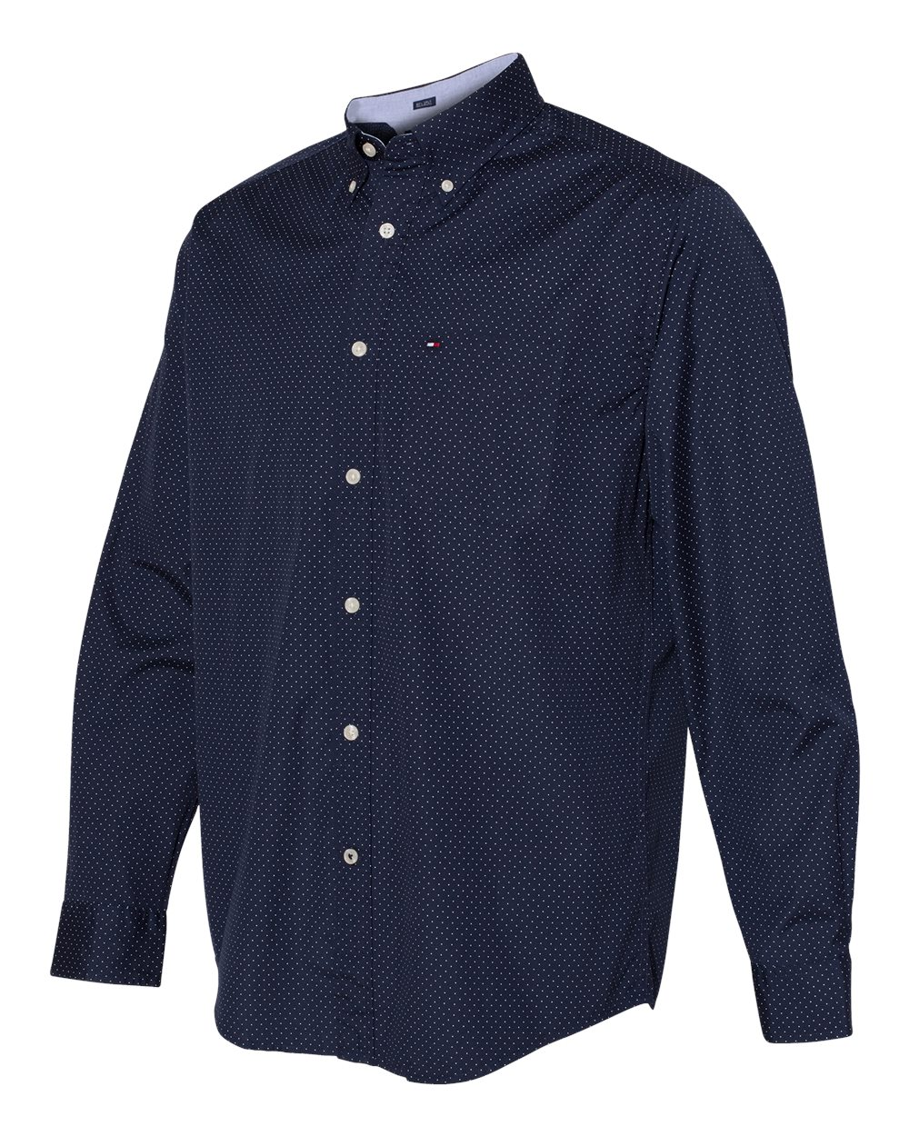 Tommy Hilfiger 13H4417 - 100s Two-Ply Polka Dot Shirt