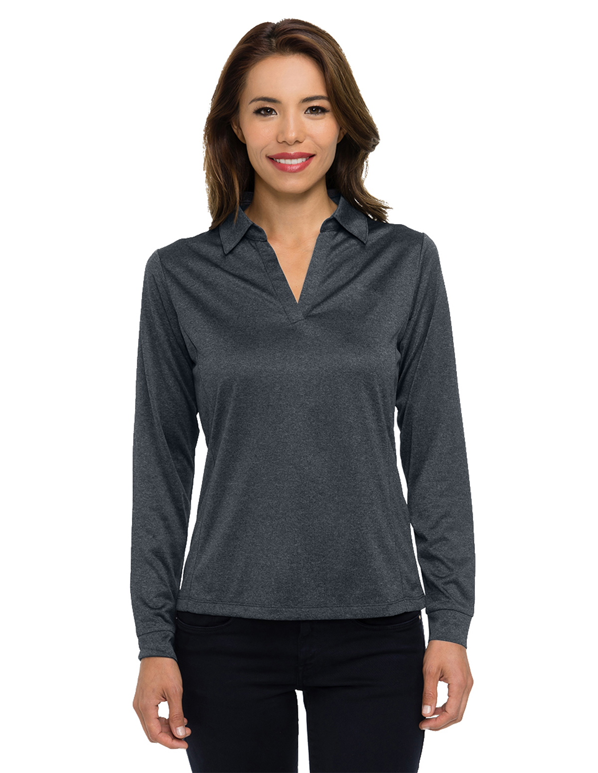 Tri-Mountain Gold KL209LS - Women's long sleeve ...