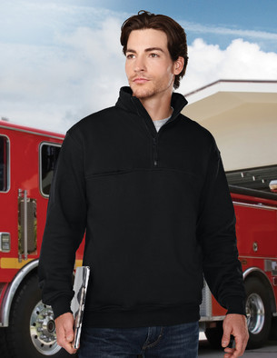 Tri-Mountain Performance 647 - Alarm quarter zip sweatshirt