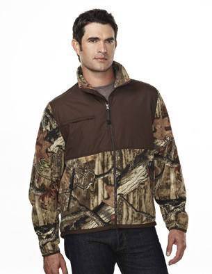 Tri-Mountain Performance 7450C - Frontiersman camo micro fleece jacket