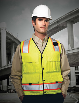 Tri-Mountain Performance 8435 - Level ANSI surveyor's vest