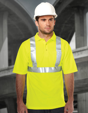 Tri-Mountain Performance K222G - Boundary polyester mesh safety polo