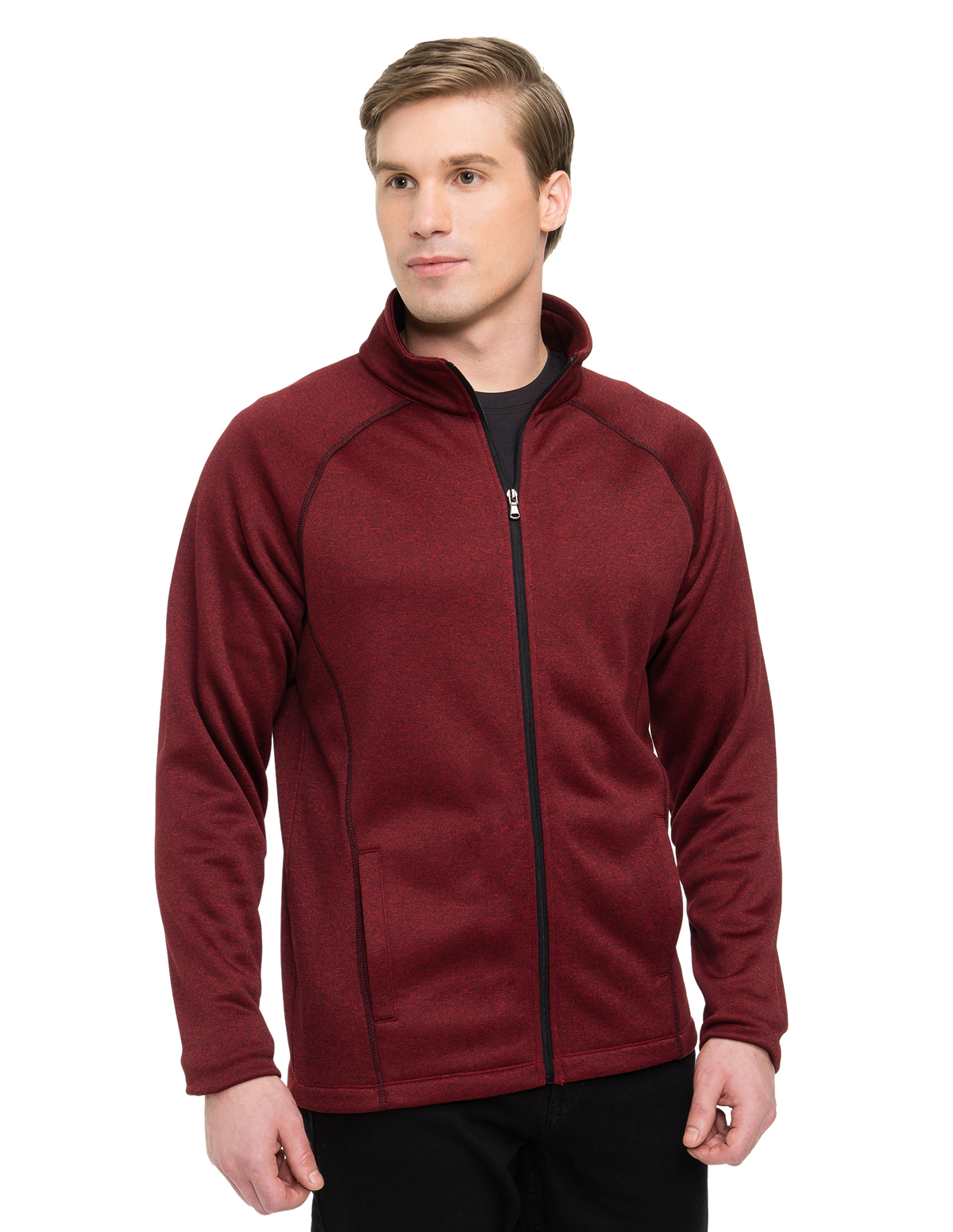 Tri-Mountain Performance F7370 - Vapor Men's 100% Polyester Heather Fleece Jacket
