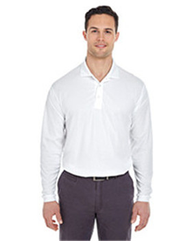 Ultra Club 8210LS - Adult Cool & Dry Long-Sleeve Mesh Pique Polo