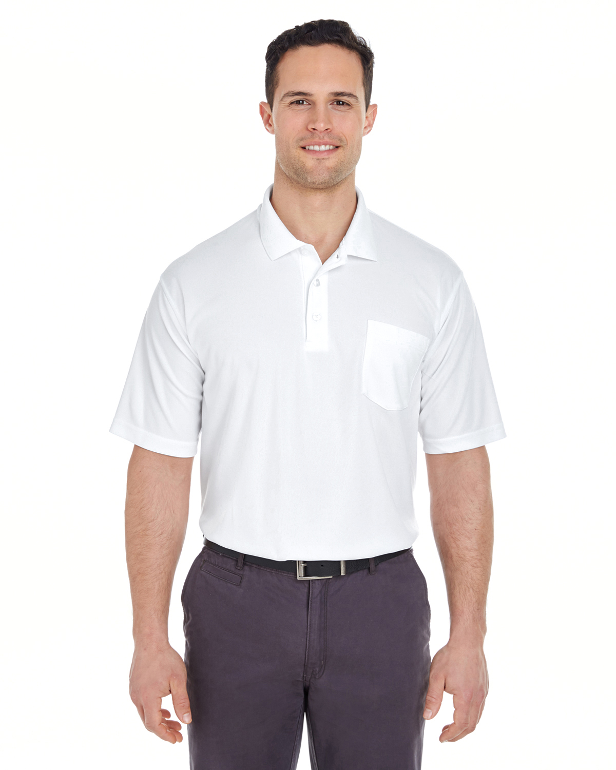 Ultra Club 8210P - Adult Cool & Dry Mesh Pique Polo with Pocket