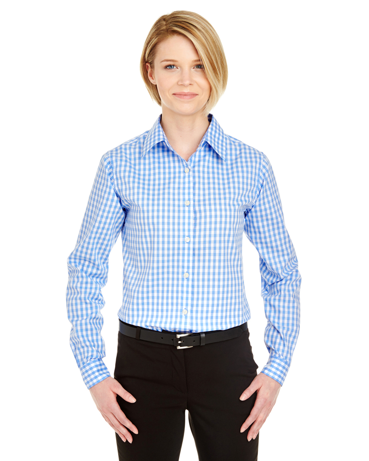 Ultra Club 8385L - Ladies' Medium-Check Woven Shirt
