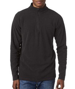 UltraClub 8180  Adult Cool Dry Quarter Zip Micro Fleece