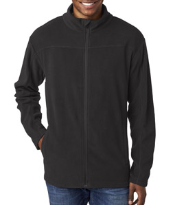 UltraClub 8185 Men's Cool Dry Full Zip Micro Fleece