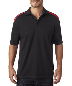 UltraClub 8215 - Adult Cool Dry Two Tone Mesh Piqu Polo