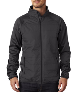 UltraClub 8292 - Adult Cool Dry Quilted Front Full-Zip ...