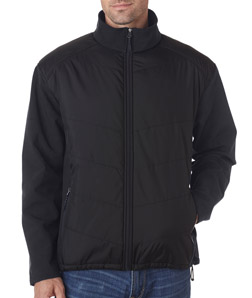 UltraClub 8295 - Adult Soft Shell Jacket with Quilted Front Back