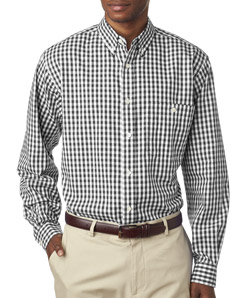 UltraClub 8385 Men's Medium Check Woven