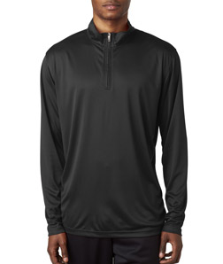 UltraClub 8424 - Men Cool Dry Sport Performance Interlock Quarter Zip Pullover