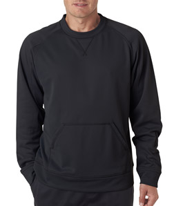 UltraClub 8443 - Adult Cool Dry Sport Crew Neck Fleece