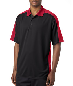 UltraClub 8447 - Adult Cool & Dry Stain Release 2 Tone Performance Polo