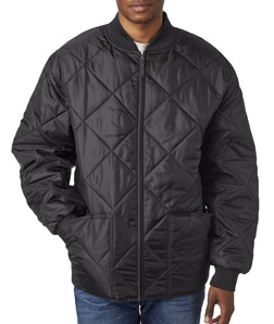 UltraClub 8467 - Adult Puffy Workwear Jacket with Quilted Lining